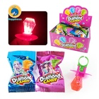 wholesale ring toy sweets lighting diamond ring pop hard candy
