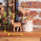 Table Wood Customized Wooden Carved Deer Handmade High-Quality Table Decoration