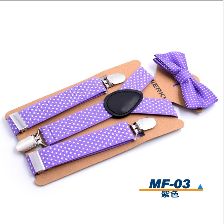 Регулируемые эластичные подтяжки и подтяжки для мальчиков с галстуком-бабочкой для детей