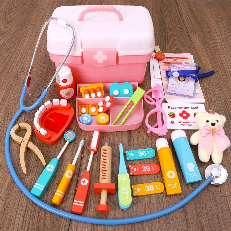 Деревянный Детский развивающий комплект для ролевых игр, игрушки для медсестер, детский набор для врачей, игрушки