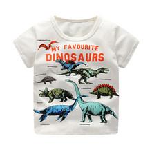 SAILEROAD/футболки для мальчиков с принтом животных; Детская одежда; Детские футболки с динозавром; Хлопковая одежда для малышей; Детские футбол...(Китай)