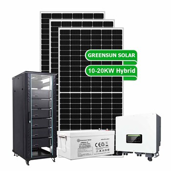 Factory use 3 phase 20kw hybrid solar energy system on grid off grid 10kw 15kw 20kw solar power plant