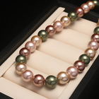 Shell Beads Shellbeads Hot Selling Sea Shell Imitation Pearl Necklace Female 10mm Round Strong Light Mixed Color Shell Beads Clavicle Chain
