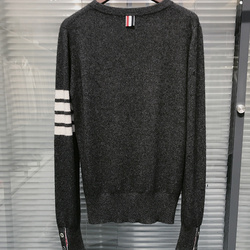 High Quality Men's Sweater Knitted Pullover Spring and Autumn 100% Wool Sweater
