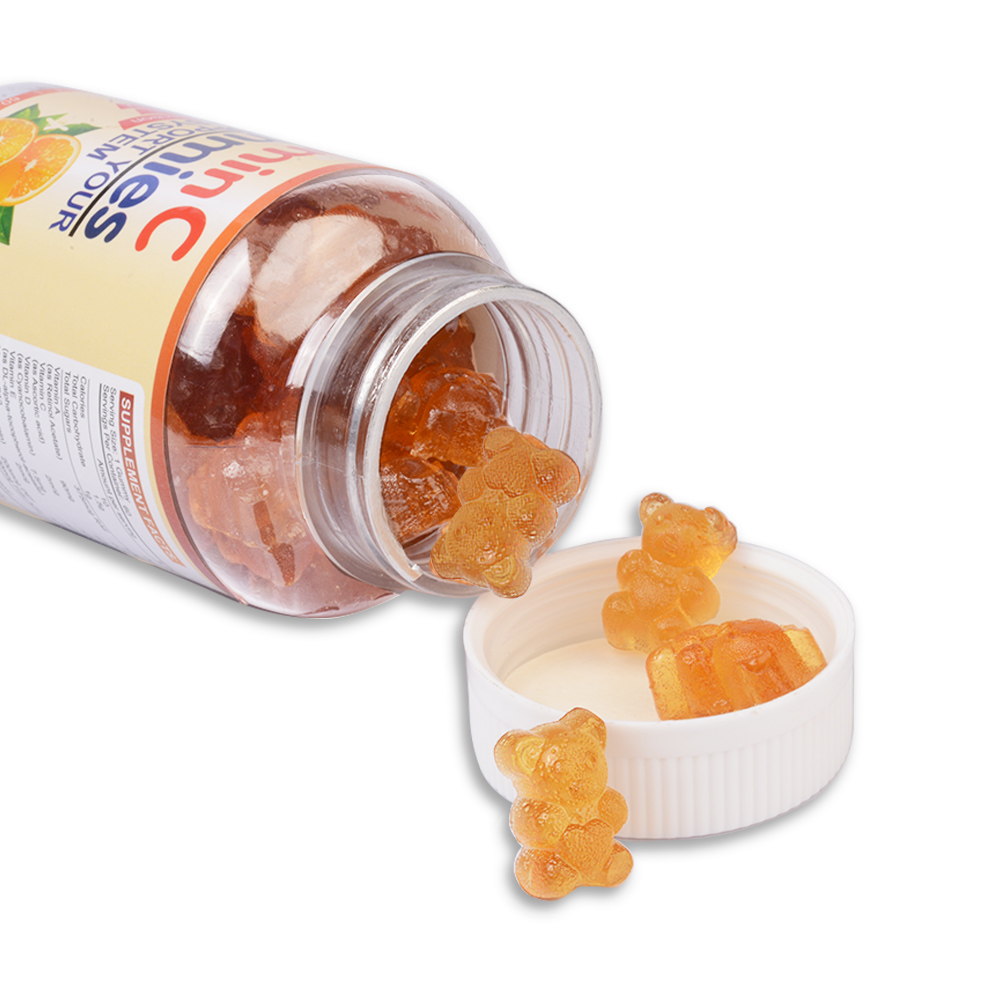 OEM 90 mg Vitamin C Private Label Bear Shape Kids Supplements Vitamins 60 Gummies Candy For Boost Immunity