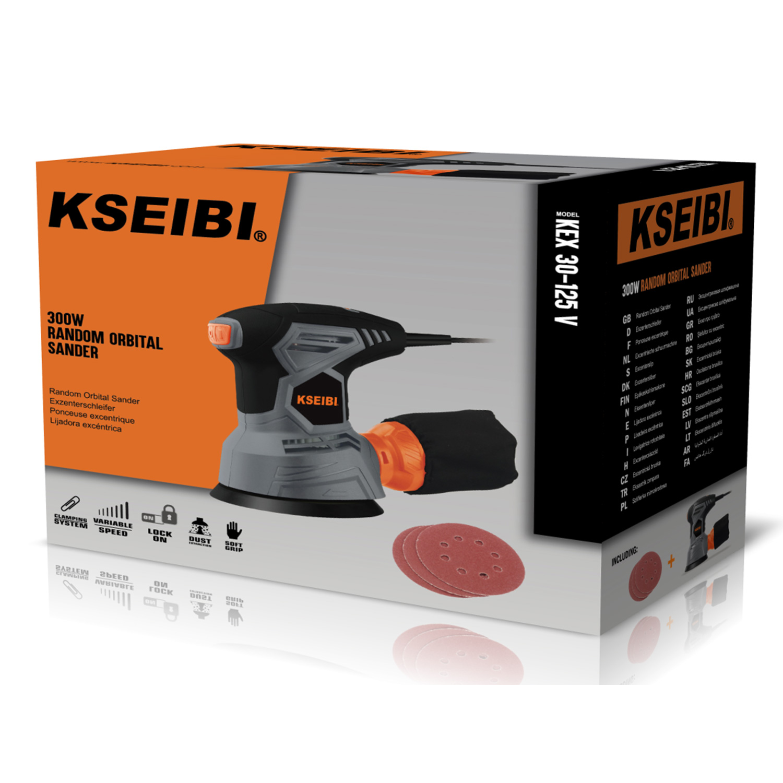 KSEIBI 300 Вт орбитальная шлифовальная машина 125 мм профессиональная электрическая полировальная машина