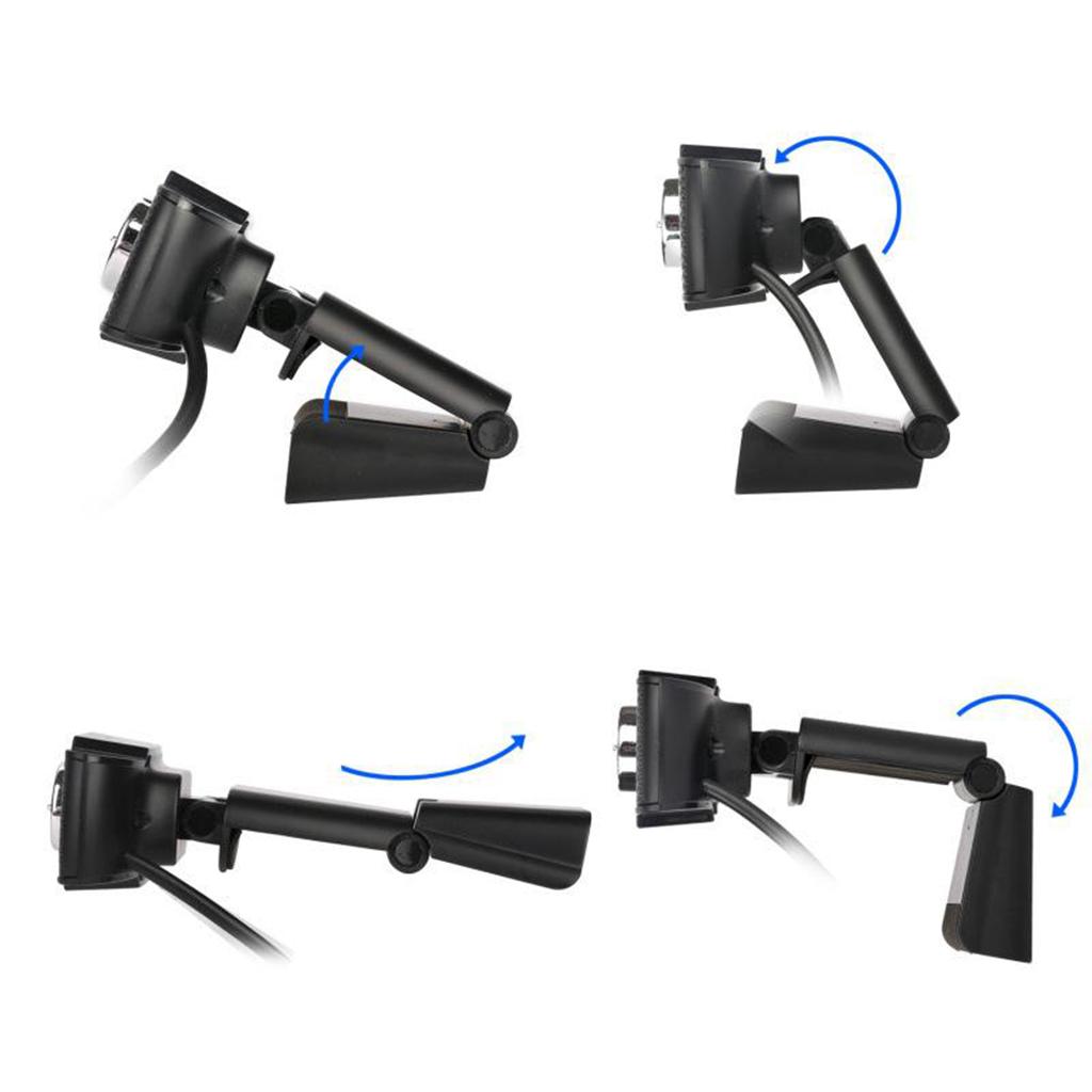 PC HD Webcam Mini Digital USB Camera Video Recording Rotatable Webcam Plug and Play 12.0M Pixels Mini USB Camera with Mic 1080P