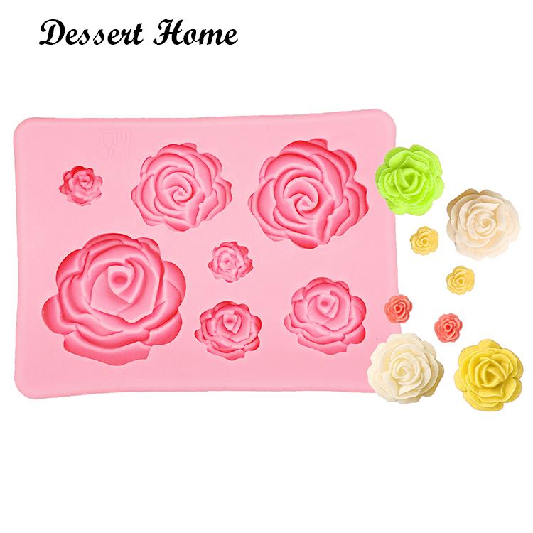 3D Rose Flower Silicone Fondant Mold Cake Decoration Tools DIY Mould