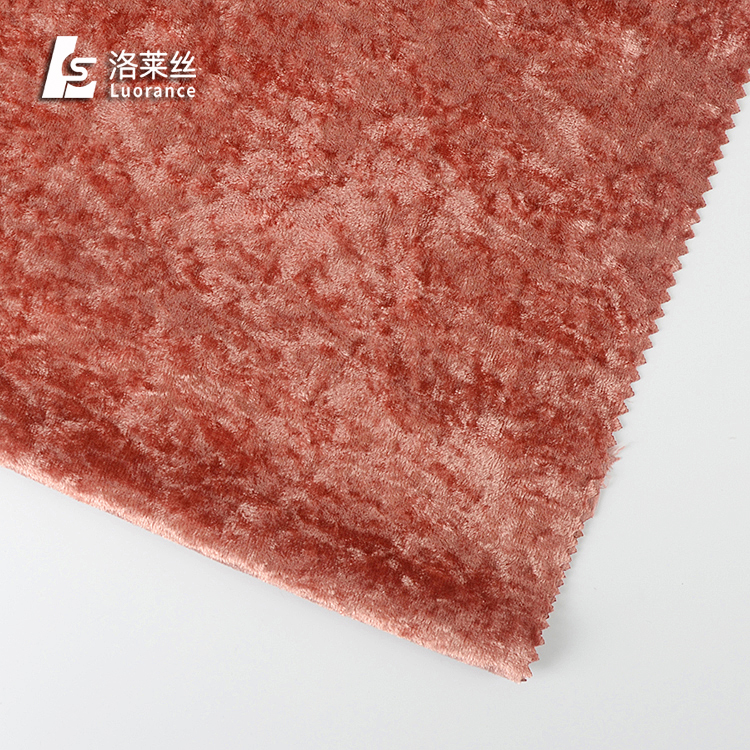 Woven none stretch ice crushed velvet fabric