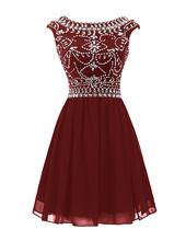 Короткие платья для выпускного вечера BeryLove, темно-синие короткие вечерние мини-платья с v-образным вырезом и бусинами, 2019(Китай)