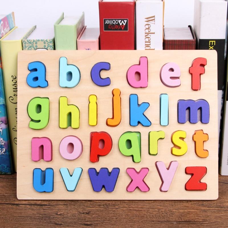 Распродажа 2019, развивающая деревянная цифровая головоломка-алфавит, 3d деревянная головоломка, игрушки для детей