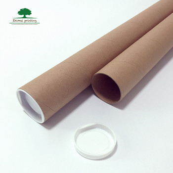 Eco friendly Cheaper Price Cardboard Mailing Tube Custom Sizes Rigid Paper Tube With Plastic Caps