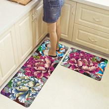 Длинный кухонный коврик для ванной, напольный коврик, домашний коврик для входа, Впитывающий Коврик для спальни, гостиной, современный кухо...(Китай)
