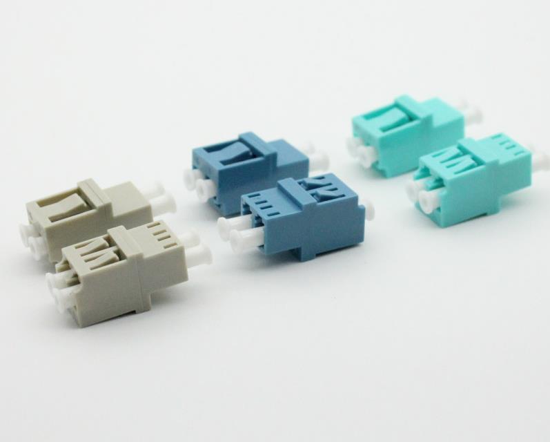 Green gigabit fiber optic adapter LC high and low type adapter LC fiber coupler duplex channel fiber splitting adapter
