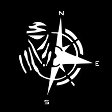 Креативный дизайн Дакар и компас стикер автомобиля виниловые украшения аксессуары водонепроницаемый чехол царапины наклейка, 12 см * 13 см(Китай)