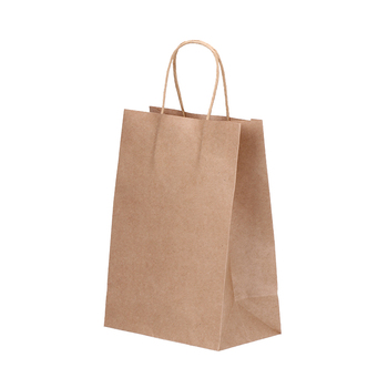 Wholesale custom high quality brown shopping kraft paper packaging gift Bag