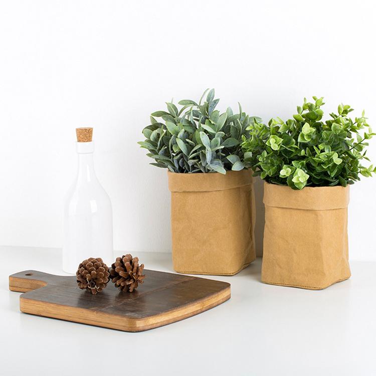 Садовый моющийся цветочный горшок из крафт-бумаги, водонепроницаемый горшок из крафт-бумаги