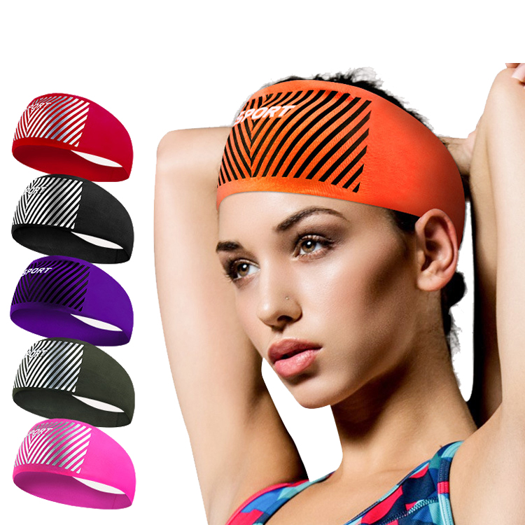 Sports Headband Women and Men Gym Headband Custom Sport Sweat Headband