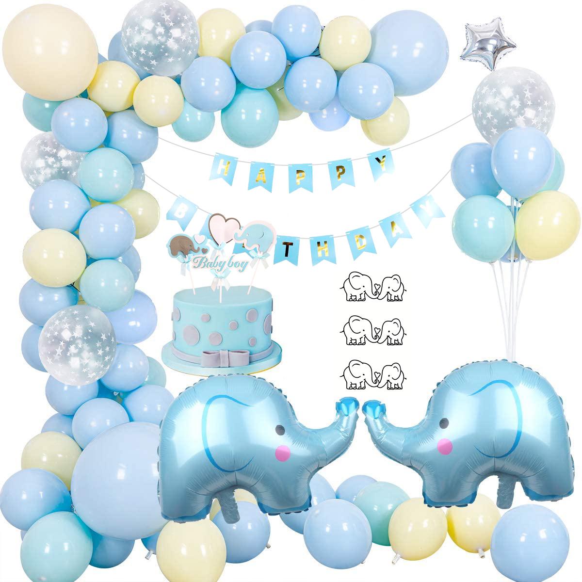 Blue Elephant Birthday Party Decorations Birthday Party Balloon ...