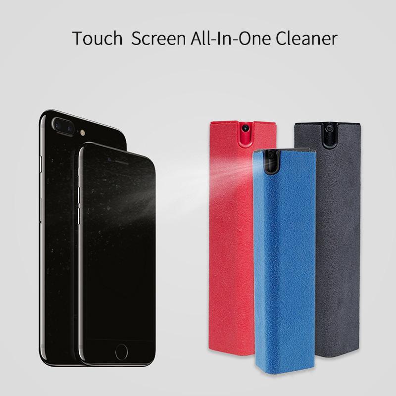 Custom Logo Private Label Portable All in one Magic Microfiber Mist Spray Antibacterial Mobile Phone Screen Cleaner