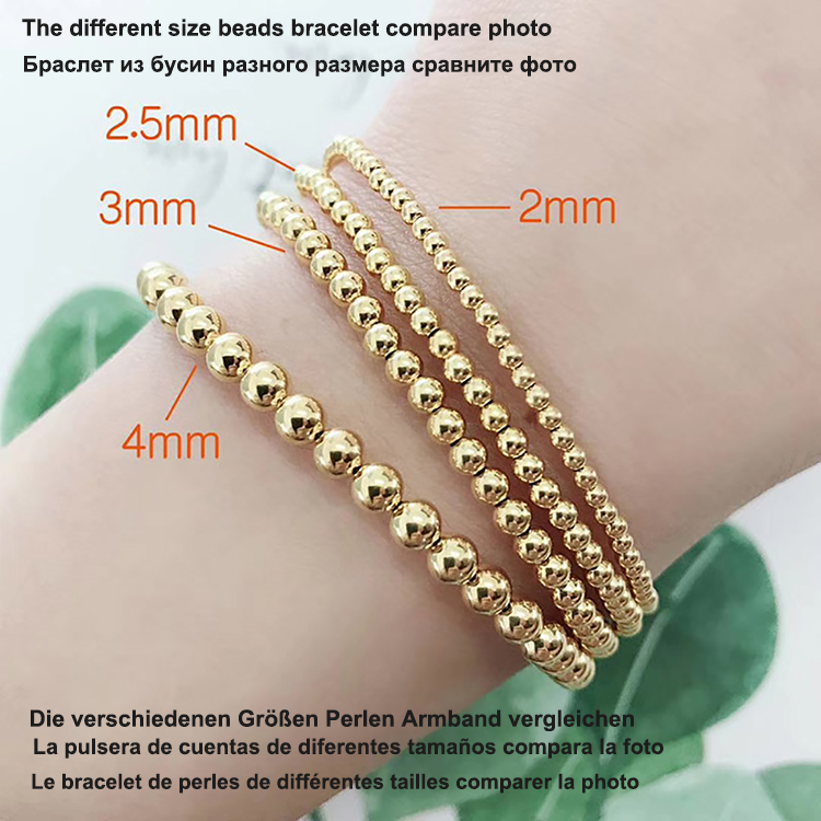 Au750 18k gold jewellery making supplies 2mm 3mm 4mm 5mm beads jewelry making spacer beads