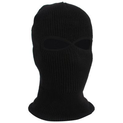 L370 2/3 Hole Full Face Balaclava Outdoor Riding Motorcycle Knitting Windproof Bandanas Knitted Hat