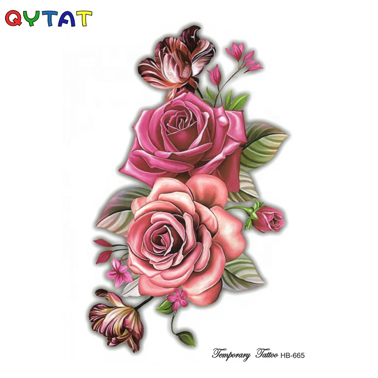 100% Cool CMYK Inks Colored Temporary Tattoo Sticker
