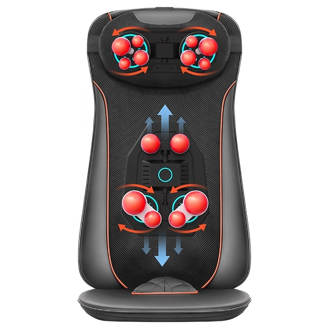 Home Car Office Use Massage Cushion Full Body Bottoms Vibration With Heat And Cold Portable Massager
