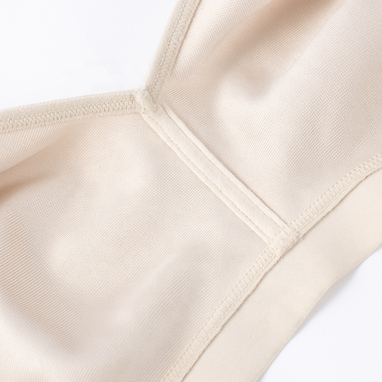 Amazon Hot Sale Ultra Thin Non Wire Cotton Plus Size Bra Lingerie Underwear Bras