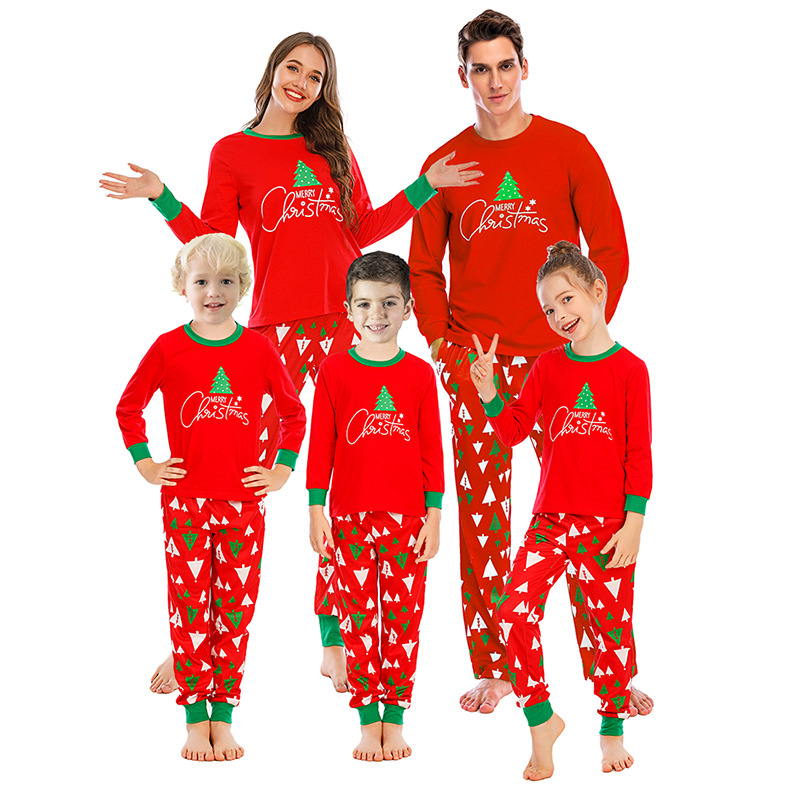 Christmas Family Matching Pajamas Set Santas Deer Sleepwear for The Family Boys and Girls
