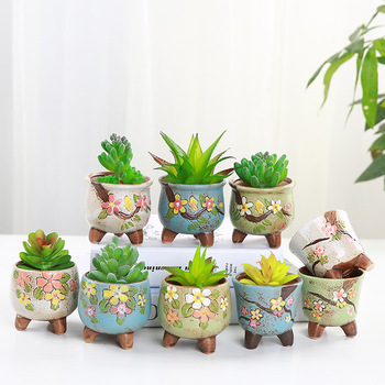 Gardening Korean Succulent Mini Cute Flower Pot Desktop Decoration Pot