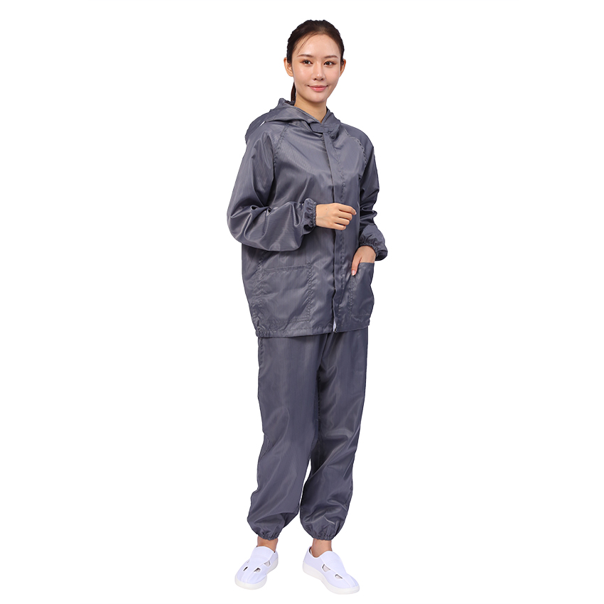 Electronics Factory Safety ESD Cleanroom Antistatic Coverall Suit - KingCare | KingCare.net