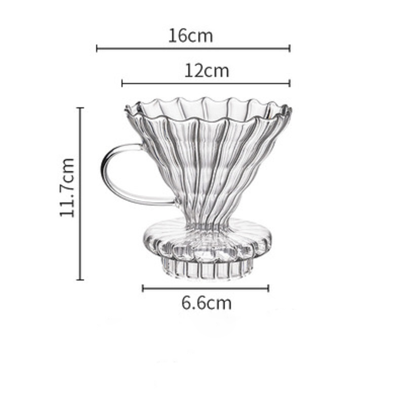 Фильтр для кофе V60, серверный стеклянный кофейник, 600 мл, Кофеварка эспрессо, Перколятор, чайник v60, гусиное стекло, графин, многоразовые фильт...(Китай)