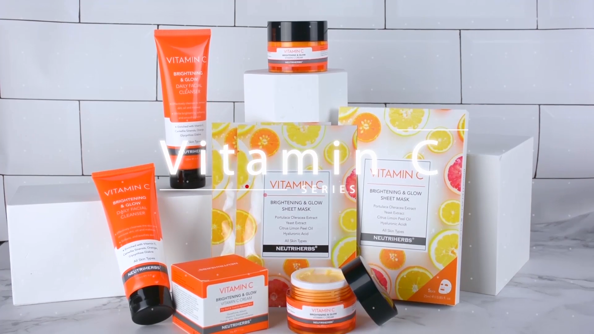 Private Label Gezicht Skin Whitening Gloeiende Moisturizer Vitamine C Crème