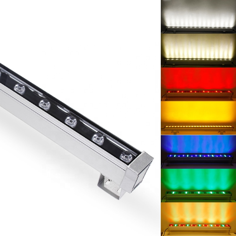 DMX512 controller 48w 64w color changing dimmable ip65 outdoor led rgb wall washer light