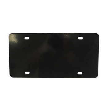 Kingtop Brand Blank Number OEM Logo black stainless iron metal car part accessories printer License plate