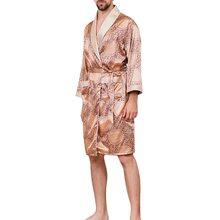 MJARTORIA 2020, мужской сексуальный шелковый халат, кимоно, халат, китайский стиль, мужской халат, ночная рубашка, одежда для сна размера плюс M-5XL(Китай)