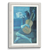 Traditional Wooden Frame Antique white(Self Matted In Canvas)