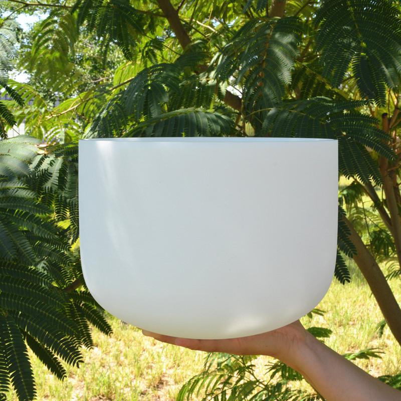 HF 8 дюймов Примечание E Manipura Матовый Кварцевый Поющая чаша для исцеления звуком и терапии