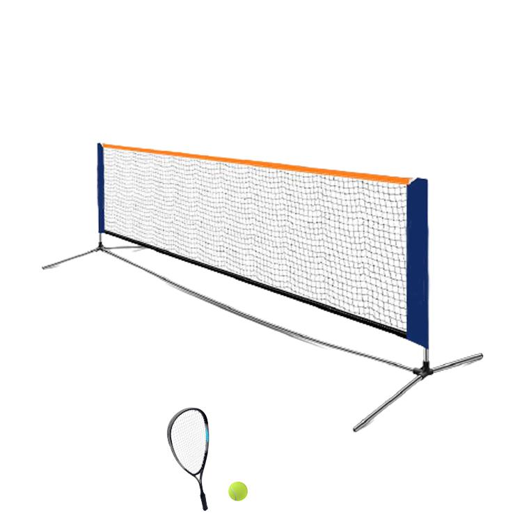 Прочный тренировочный бадминтон теннисный корт Профессиональный с металлическими полюсами