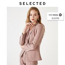 Женская куртка из овечьей шерсти; Элегантный блейзер для путешествий; Верхняя одежда; S | 419372502(Китай)