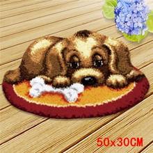 Милый набор ковров с крючком для кошек, милый ковер для собак, Набор для вышивки, вязаный ковер для спальни, современный ковер для гостиной, с...(Китай)