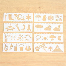 Набор из 8 шт., шаблоны для скрапбукинга, белого пластика(Китай)