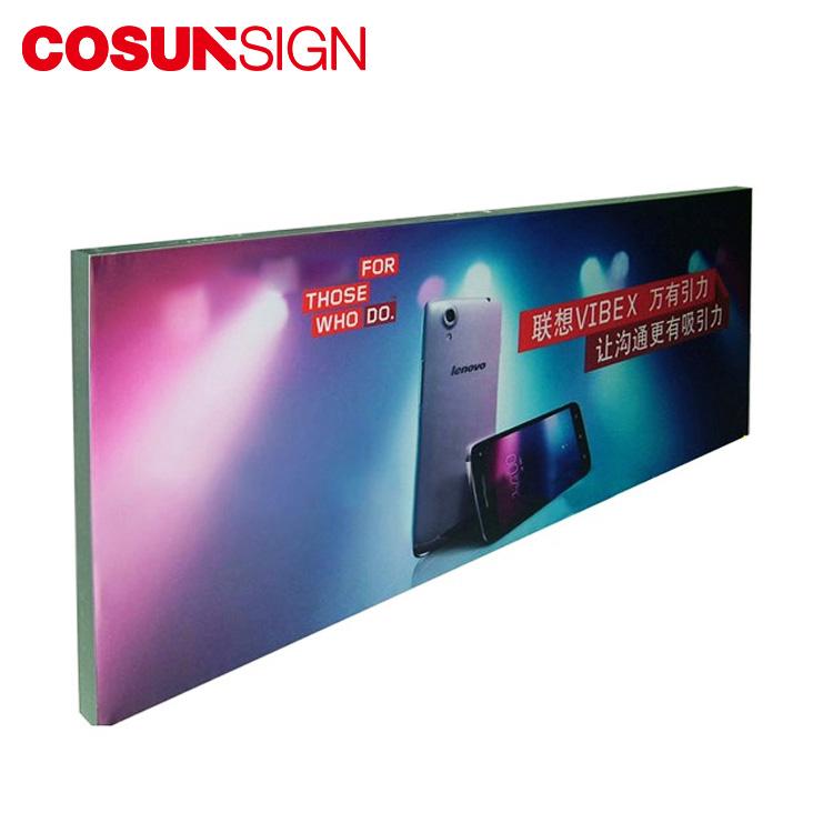 Светодиодный светящийся наружный дисплей Тонкий портативный тканевый рекламный световой короб знак