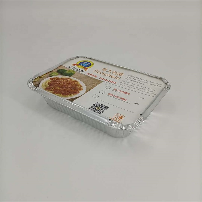 square disposable aluminum foil baking tray with lid