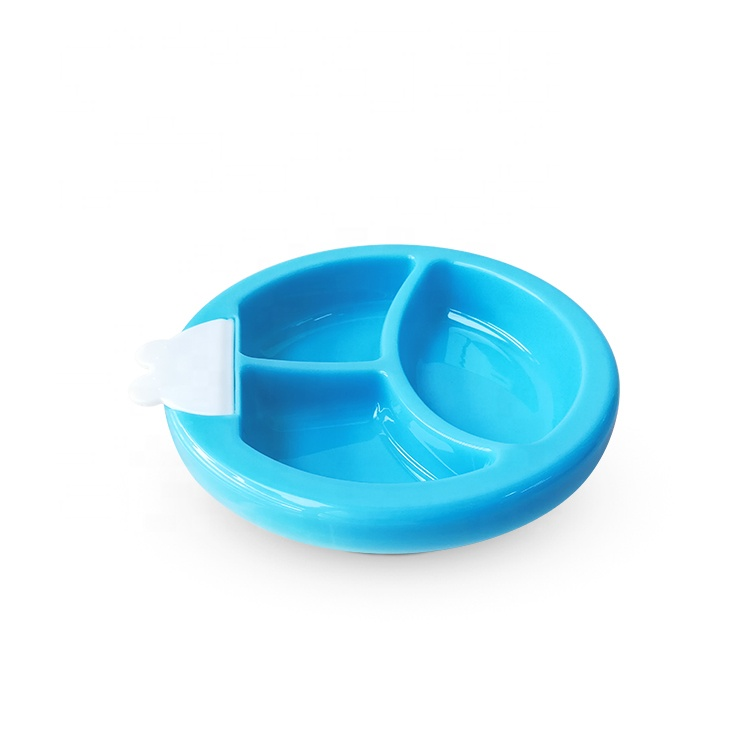 2020 New Products Temperature Sensing Baby Feeding Suction Bowl BPA Free Plate For Toddler And Infant