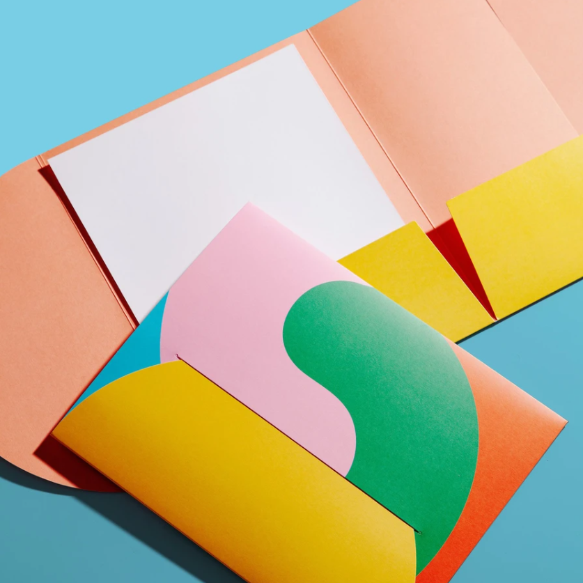 2021 Factory Hot New Arriving Color Printed Recycled Paper A4 Letter Size Document File Folders With Closure