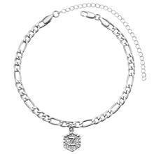 A-Z Начальная анклет с буквами серебряный цвет начальный браслет на ногу с буквами для женщин Мода Алфавит украшения в подарок на Новый год ц...(Китай)