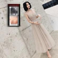 Женское платье без рукавов It's Yiiya, элегантное блестящее вечернее платье с v-образным вырезом, без рукавов, размера плюс, LF225(Китай)