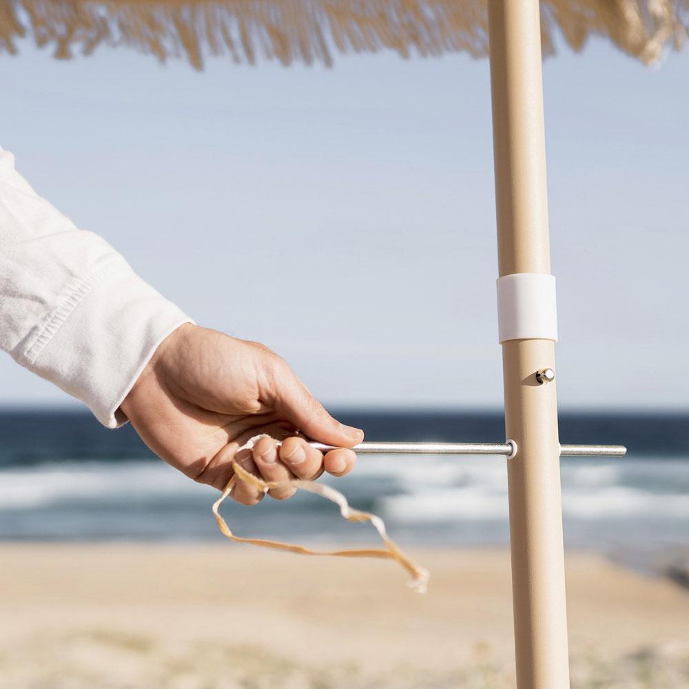 Fashionable custom flag printed beach umbrella